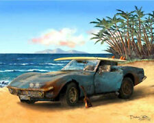 Hawaiian decor ~ Wall art pictures ~ featured print Corvette Stingray cruiser