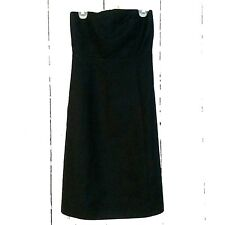 J Crew sz 8 LBD 100% Cotton LITTLE BLACK STRAPLESS DRESS Wedding party cocktail