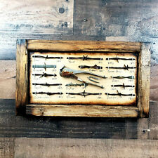 Antique Barbed Wire Display Barnwood Framed Authentic Barbwire Collection