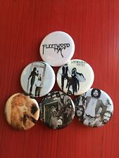 "1.25"" Fleetwood Mac pin back button set of 6"