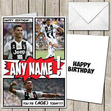 Cristiano Ronaldo Juventus Personalised Birthday Greeting Card CR7 Madrid CA259