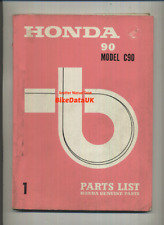 Honda 90 Cub C90 (1967-1977) Genuine Parts List Catalogue Manual Book C 90 CM91