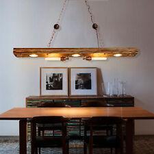 Industrial Design Pendel Decken Lampe Holz Balken Wohn Zimmer Hänge Leuchte 220V