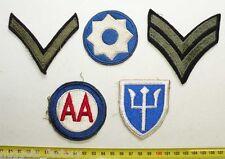 lot de 5 Patchs Originaux US Army WWII ( 134 )