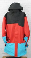 New 2017 Neff Mens Trifecta Snowboard Jacket Large Black Red Cyan