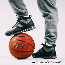Nike Lebron X JE John Elliot Icon QS Black Gum Grey AQ0114 Men's size 10 11