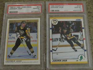 1990 OPC Premier and Score R/T Jaromir Jagr rookie cards PSA GEM MT 10