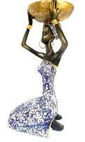 "9"" Yemaya Apetevi Seated Figurine Statue Yemoja Ochun Oya Santeria Oricha 23159B"