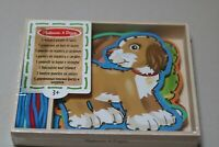 Melissa & Doug - Panels & Laces - Children's Lacing Game - Pets - NEW