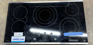 GE WB62X24222 Stainless Electric Cooktop Glass Read Description!!