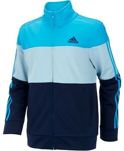 adidas Little Boys Colorblocked Tricot Track Jacket Size-6