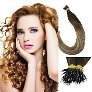 1g Nano Ring Advanced Invisible Elegant Keratin Remy Human Hair Extensions UK