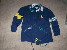 $0 Shipping With New York Girl 80's Ladies Medium Snap All The Way Wind Breaker