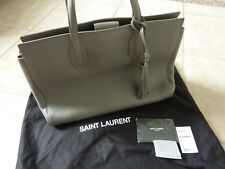 "$2350 YSL Saint Laurent Ladies Med. ""Amber"" Gray Leather Tote Bag - NEW #466229"