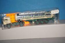 """BOX05 M.A.N F90 Chromtank-Sattelzug """"LANFER Transporte"""" Meppen Herpa 1:87 - OVP"""