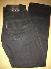 Levis Boys 511 Skinny Jeans Size 16 R 28x28 Dark Denim Wash Zipper fly(gt)