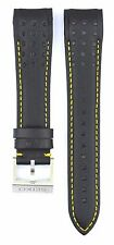 Compatible Seiko Sportura SNAE67J1 21mm Black Genuine Leather Watch Strap SKO112