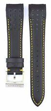 Compatible Seiko Sportura SNAE67J1 21mm Black Genuine Leather Watch Strap SKO112