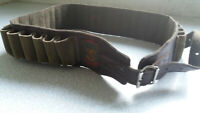 VINTAGE LEATHER & SUEDE  -  - SHOOTING - CARTRIDGE BELT-  44 INCH