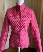EUC Barbour Pink  Women's Quilted Jacket  Snap ButtonsSize US 4, UK 8 Pink $199