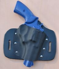 Fits Ruger GP100 Leather Kydex Hybrid OWB holster By Chief's Holsters
