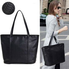 Fashion Women PU Leather Handbag Hobo Tote Shoulder Messenger Purse Large Bags