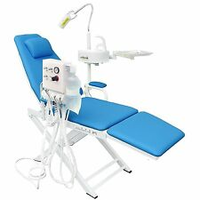 POLTRONA Dentistica Portatile + LED Luce chirurgica + Bacino dei rifiuti + TURBINA unità 2H Blu