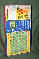 "Vintage 10-Cent ""Grand Prize Barrel"" 622 Hole Punch Board Serial 43265 Unpunched"