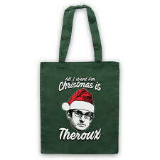 ALL I WANT FOR CHRISTMAS IS THEROUX FILMMAKER LOUIS FUN TOTE BAG LIFE SHOPPER