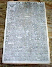 1811 Washington DC newspaper w $100 RUNAWAY SLAVE REWARD AD Bladensburg MARYLAND