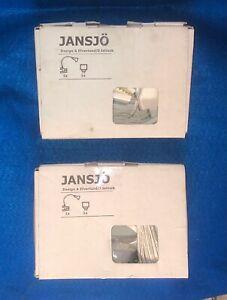Qty 2) NEW Ikea White JANSJO 403.156.73 Clip On Flexible Neck Display Light NIB