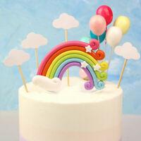 Rainbow Cake Topper Creative Cupcake Dessert Topper Rainbow Design Cake Pick