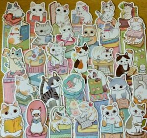 3x Cat Bookmarks Page Marker Gift Kawaii Pottering Book Mark Cat Lover Reading