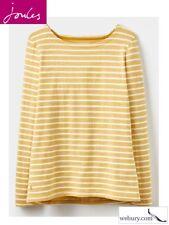 Joules Harbour Antique Gold Stripe 100 Cotton Long Sleeve Top Size UK 18