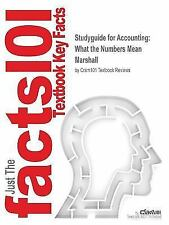 Studyguide for Accounting : What the Numbers Mean by Marshall, ISBN...