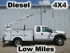 F450 DIESEL 4X4 SUPER EXTENDED CAB UTILITY SERVICE CRANE BOOM MECHANICS TRUCK