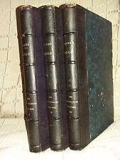 Les travailleurs de la mer Victor Hugo édition originale 1866 3 volumes