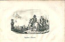 1846 NAPOLEONE A VITESCO Vitebsk Віцебск litografia Campagna Russia Grande Armée
