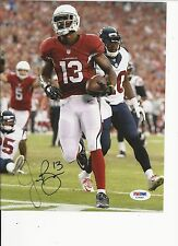f2cfdc189 JARON BROWN ARIZONA CARDINALS HAND SIGNED COLOR 8X10 W  PSA COA X75087