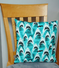 """Jaws - Teeth Design - Large Handmade 16x16"""" Accent or Throw Pillow"""
