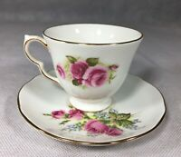 Queen Anne Roses 8679 Tea Cup Duchess Velvet Rose 415 Saucer Mixed China Set