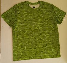 OLD NAVY MEN'S ACTIVE ATHLETIC XXL 2XL SHORT SLEEVE SHIRT NEON YELLOW GREY GRAY