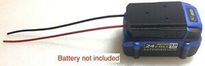 X battery adapter for KOBALT 24V li-ion dock power connector robotics 12/10gauge