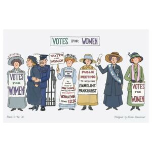 Brand New Alison Gardiner Suffragette Tea Towel