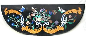 36 x 12 Inch Console Table Top Floral Design Inlaid Coffee Table for Home Decor