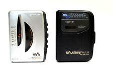 Sony Walkman Lot of 2 Cassette Radio Mega Bass Fm Am Wmfx195 Wmfx101 For Parts