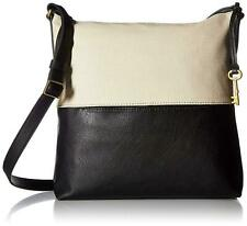 Fossil Charlotte Hobo Shoulder Crossbody Bag Black Ivory White