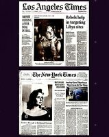 Elizabeth Taylor Newspaper Lot of 2 Different Tribute 2011 LA Times NY Times Liz