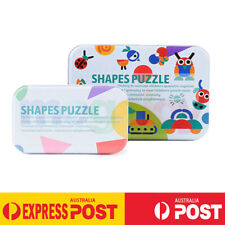 Wooden Jigsaw Shape Puzzle Games Montessori Educational Toys For Kids Patterns B