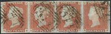 1841 1d Red-Brown Pl 84 KB-KE 4m Strip '377's of OTTERY Showing Varieties VFU